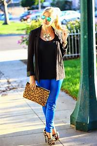 Navy Blue Leggings Outfit Ideas