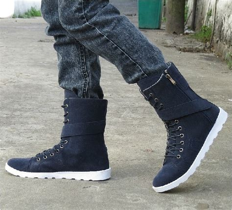 warm men boots fashion snow for winter high