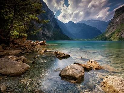 Landscape Lake Mountain Summer Water Nature Trees
