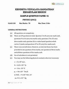 Cbse Class 12 Physics Sample Paper 02  For 2014