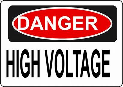Danger Voltage Safety Electrical Sign Signs Electricity