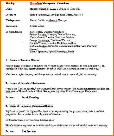 meeting notes sample authorization letter