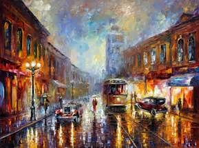 los angeles 1920 palette knife oil painting on canvas by