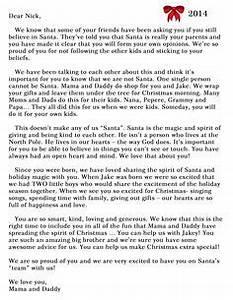1000 ideas about Letter Explaining Santa on Pinterest