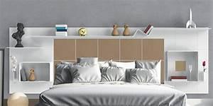 Tete De Lit Bois 180 : t te de lit avec rangements marie claire ~ Teatrodelosmanantiales.com Idées de Décoration