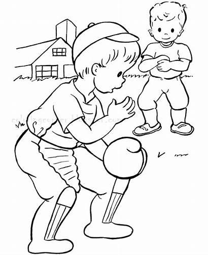 Baseball Coloring Pages Printable Sports Sheets Drawing