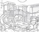 Bedroom Kid Drawing Line Draw Lika Getdrawings Deviantart sketch template