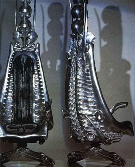Giger Harkonnen Capo Chair by Harkonnen Capo Chair Aluminum