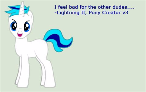 Lightning Ii On Pony Creator V3 By Zhanrae30 On Deviantart