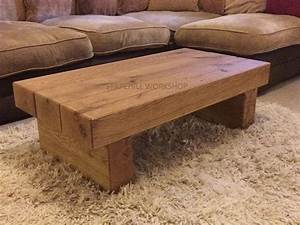 oak beam coffee table 3 beam dark oak rustic by With oak beam coffee table