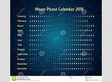 Vector Astrological Calendar For 2018 Moon Phase Calendar
