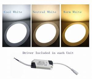 3W Bright LED Recessed Ceiling Panel Down Light Bulb Lamp ...
