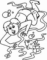 Coloring Swimming Pool Sheet Popular sketch template