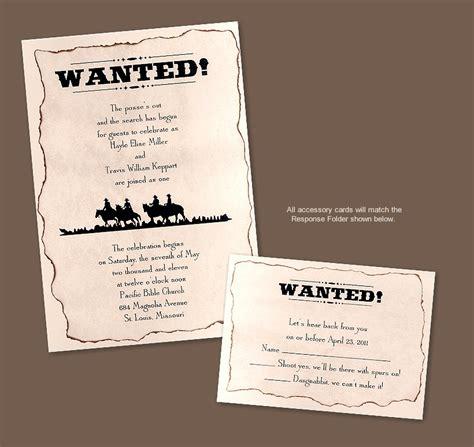 jodi lynns blog wanted western wedding invitation due