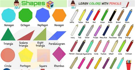 shapes  colors vocabulary  english eslbuzz learning