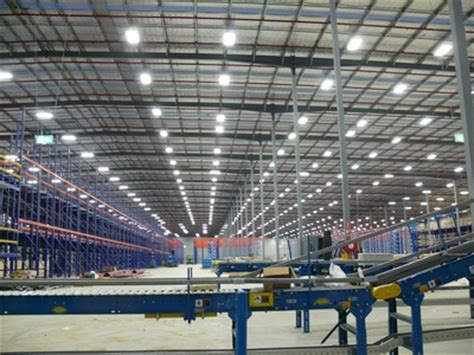 led warehouse lighting amazon project energy efficient technology distribution centre