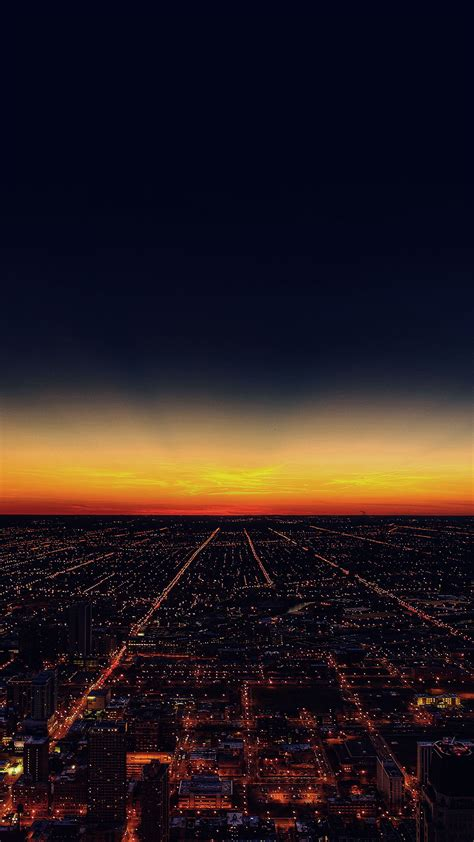 sunset skyline cityscape android wallpaper