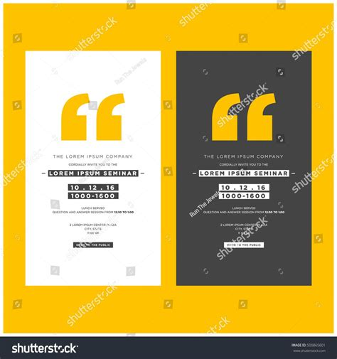 business seminar invitation design template time stock