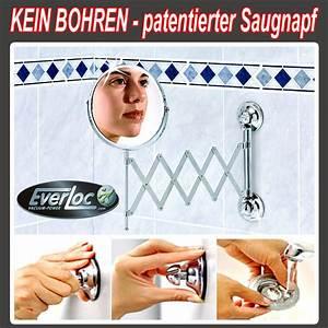 Kosmetikspiegel Mit Saugnapf : everloc kosmetikspiegel mit patentiertem saugnapf system kein bohren spiegel ~ Sanjose-hotels-ca.com Haus und Dekorationen