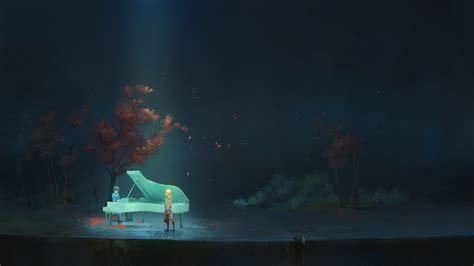 #couple, #anime, #piano, #music, #sadness, #dark