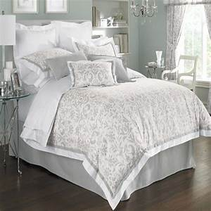 Gray & white comforter set Home Styling Pinterest
