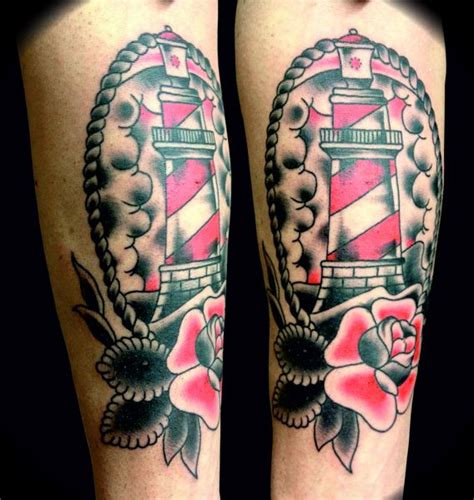 school arm school traditional nautic ink lighthouse with arm 216 yvinds tattis