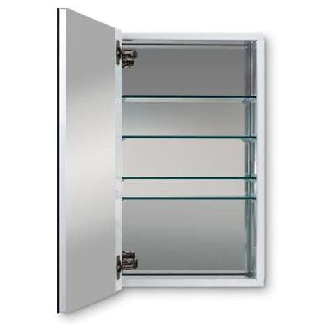 Home Depot Recessed Medicine Cabinets by Metro Deluxe 15 In W X 25 In H Recessed Or Surface Mount