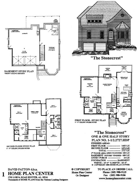 story and half house plans pictures home plan center 1 1 2 2727 stonecrest