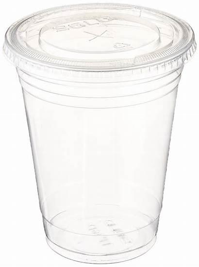 Cups Clear Lids Plastic Coffee Flat Oz
