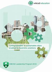 Living benefits in sustainable cities enabled by business