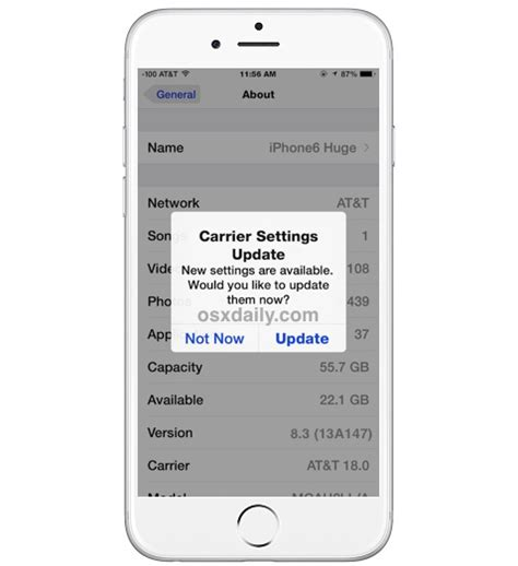 what is carrier settings update on iphone ios all in one how to check for a carrier settings update