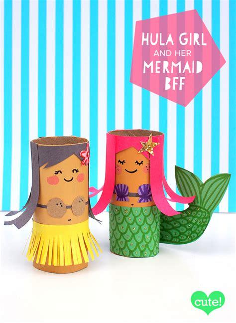 mollymoocrafts toilet roll crafts hula and mermaid 677   TP Roll Mermaid mollymoo2