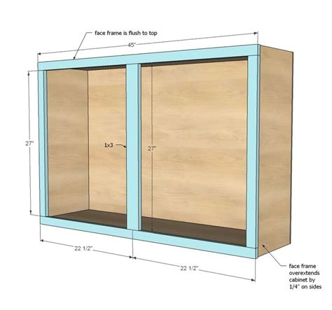 how to build kitchen cabinets free plans ana white build a 45 quot wall kitchen cabinet free and