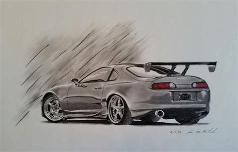 Toyota Supra Drawing By Aaron Bertrand