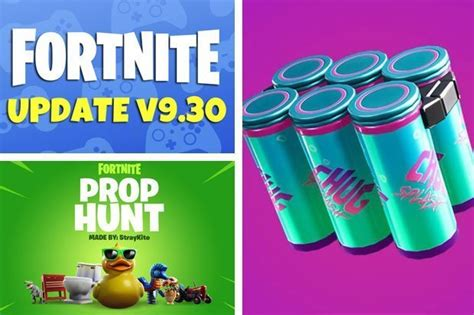 fortnite 9 30 patch notes update epic games leaked skins map changes chug splash item daily