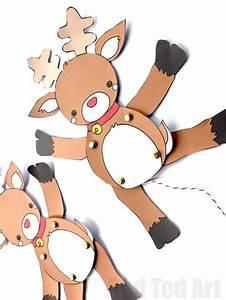Paper Reindeer Puppet Template