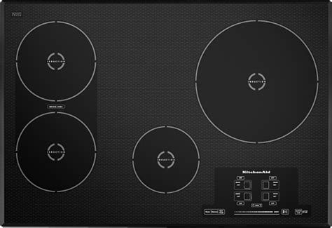 induction cooktop kitchenaid 30 quot built in electric induction cooktop black Kitchenaid