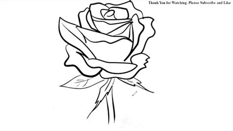 draw  rose flower easy  drawing sketch youtube