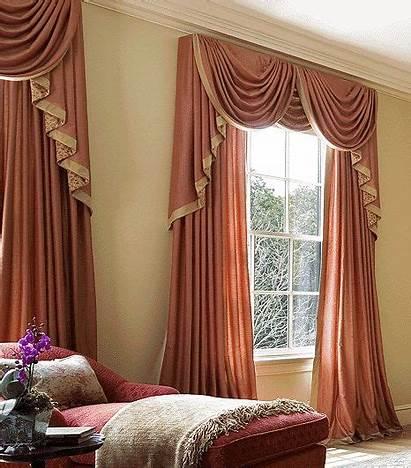 Window Curtains Designs Drapes Orange Treatments Luxury