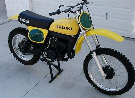 Suzuki Rm Parts by 1975 Suzuki Rm250 Dirt Bike Classic Bikes Vintage