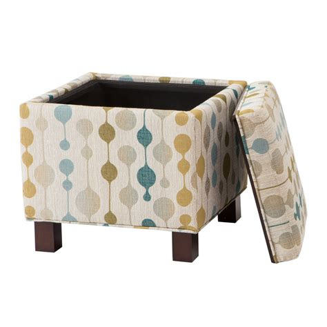 Pillow Ottomans by Park Shelley Square Storage Ottoman With Pillows