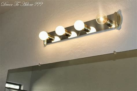 How To Change Bathroom Light Fixture by Decor To Adore How To Remove Bathroom Lighting And
