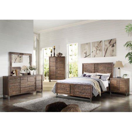 acme furniture ek andria reclaimed oak acacia wood