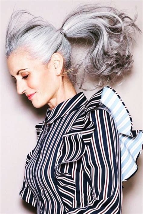 17 Best Ideas About Grey Hair Styles On Pinterest Gray