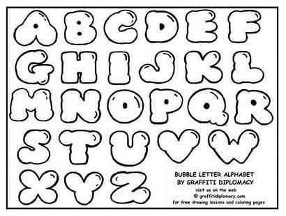 Bubble Letters Block Alphabet Draw Graffiti Lettering