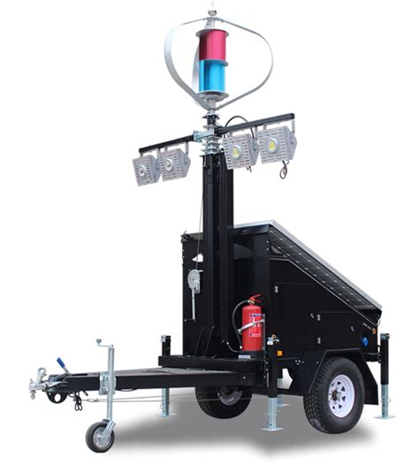 portable trailer lights iqups solar light tower with wind turbine 400w