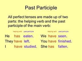 Past Participle Definition