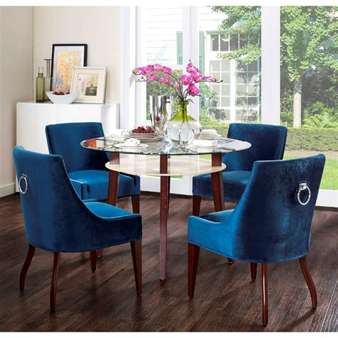 HD wallpapers dining table with velvet chairs