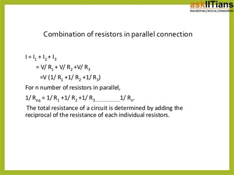 Combination Resistors Series Parallel Physics