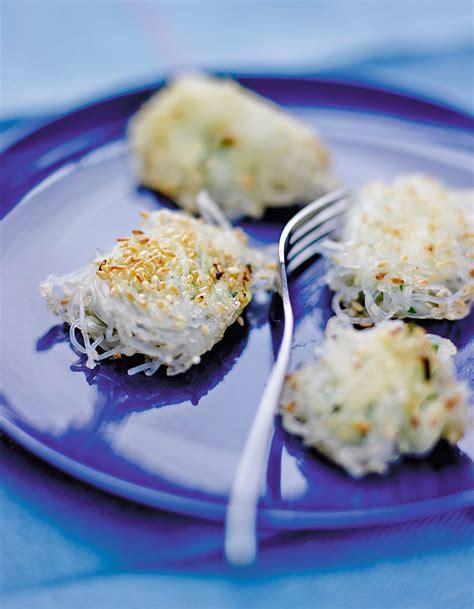 cuisiner le soja bouchées de vermicelles de soja au fromage frais bien